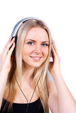 Beautiful women listening music Stock Photos