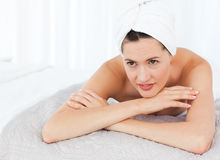 Beautiful women lying down Stock Photography