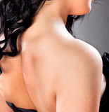 Beautiful women neck and shoulders Royalty Free Stock Images
