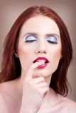 Beautiful women with nice make-up Royalty Free Stock Photo