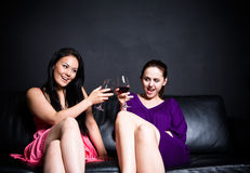 Beautiful women in a party Stock Image