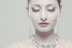 Beautiful women portrait jewelery Stock Images