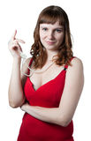 Beautiful women in red dress Stock Photography