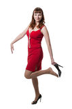 Beautiful women in red dress Royalty Free Stock Photography