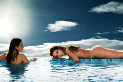 Women in heaven spa Stock Images