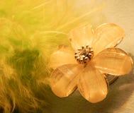 Beautiful women's hairgrip flower Stock Images