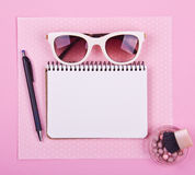 Beautiful women's minimal set of fashion accessories Stock Images