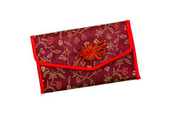 Beautiful women's purse in oriental style on a white background. Stock Photography