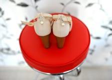 Beautiful women`s shoes Stock Image