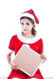 Beautiful women santa Stock Images