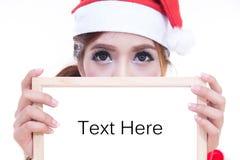 Beautiful women santa Stock Image