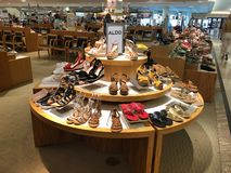 Women shoes department store. royalty free stock photo