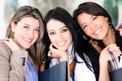 Beautiful women shopping Royalty Free Stock Image