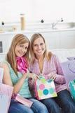 Beautiful women with shopping bags Stock Photos