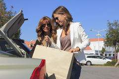 Beautiful women shopping Royalty Free Stock Photo