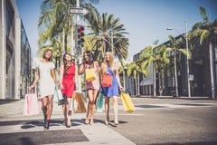 Beautiful women shopping Royalty Free Stock Images