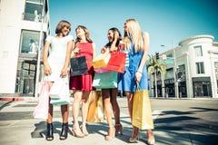 Beautiful women shopping Royalty Free Stock Photography