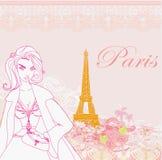 Beautiful women Shopping in Paris Stock Image