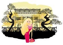 Beautiful women Shopping in Paris Stock Photos