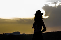 Beautiful women in silhouette Royalty Free Stock Images