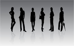 Beautiful women silhouettes Royalty Free Stock Images
