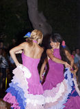 Beautiful women of Spain folk group. dancers Royalty Free Stock Images