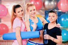 Beautiful women in sports club Stock Photos