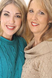 Beautiful women in sweaters upclose Royalty Free Stock Photo