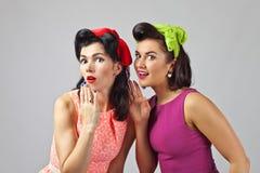 Beautiful women talking . Stock Photos