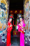 Beautiful women with traditional chinese dress Stock Photography