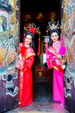 Beautiful women with traitional chinese dress Stock Photography