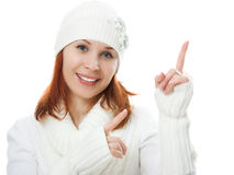 Beautiful women in warm clothing Royalty Free Stock Photos