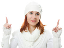 Beautiful women in warm clothing Stock Image