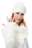 Beautiful women in warm clothing Royalty Free Stock Photo