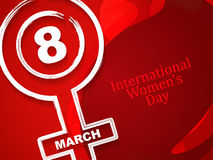 Beautiful womens day card design. Royalty Free Stock Photography