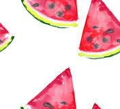 Beautiful wonderful bright colorful delicious tasty yummy ripe juicy cute lovely red summer fresh dessert slices of watermelon Stock Photo