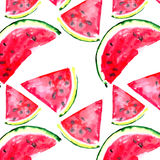 Beautiful wonderful bright colorful delicious tasty yummy ripe juicy cute lovely red summer fresh dessert slices of watermelon Stock Images