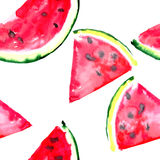 Beautiful wonderful bright colorful delicious tasty yummy ripe juicy cute lovely red summer fresh dessert slices of watermelon Royalty Free Stock Photos