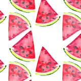 Beautiful wonderful bright colorful delicious tasty yummy ripe juicy cute lovely red summer fresh dessert slices of watermelon Stock Image