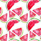 Beautiful wonderful bright colorful delicious tasty yummy ripe juicy cute lovely red summer fresh dessert slices of watermelon pat Royalty Free Stock Photos