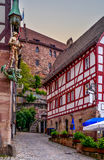 Regensburg sidestreet Royalty Free Stock Photography