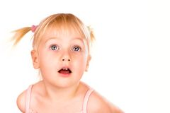 Beautiful wondering baby girl Royalty Free Stock Photography