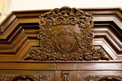 Free Beautiful Wood Carvings On Antique Furniture Royalty Free Stock Photography - 130553317