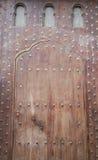 Beautiful wood door in El Jadida Stock Image