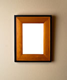 Beautiful wood frame on wall. Stock Image