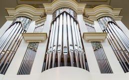 Beautiful wood organ detail Royalty Free Stock Photo