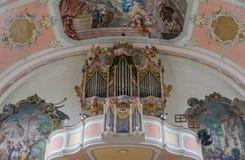 Beautiful wood organ detail Royalty Free Stock Photos