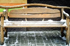 Beautiful wooden bench royalty free stock image