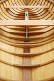 Beautiful wooden boat under construction Royalty Free Stock Photo