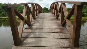 Beautiful wooden bridge Stock Photos